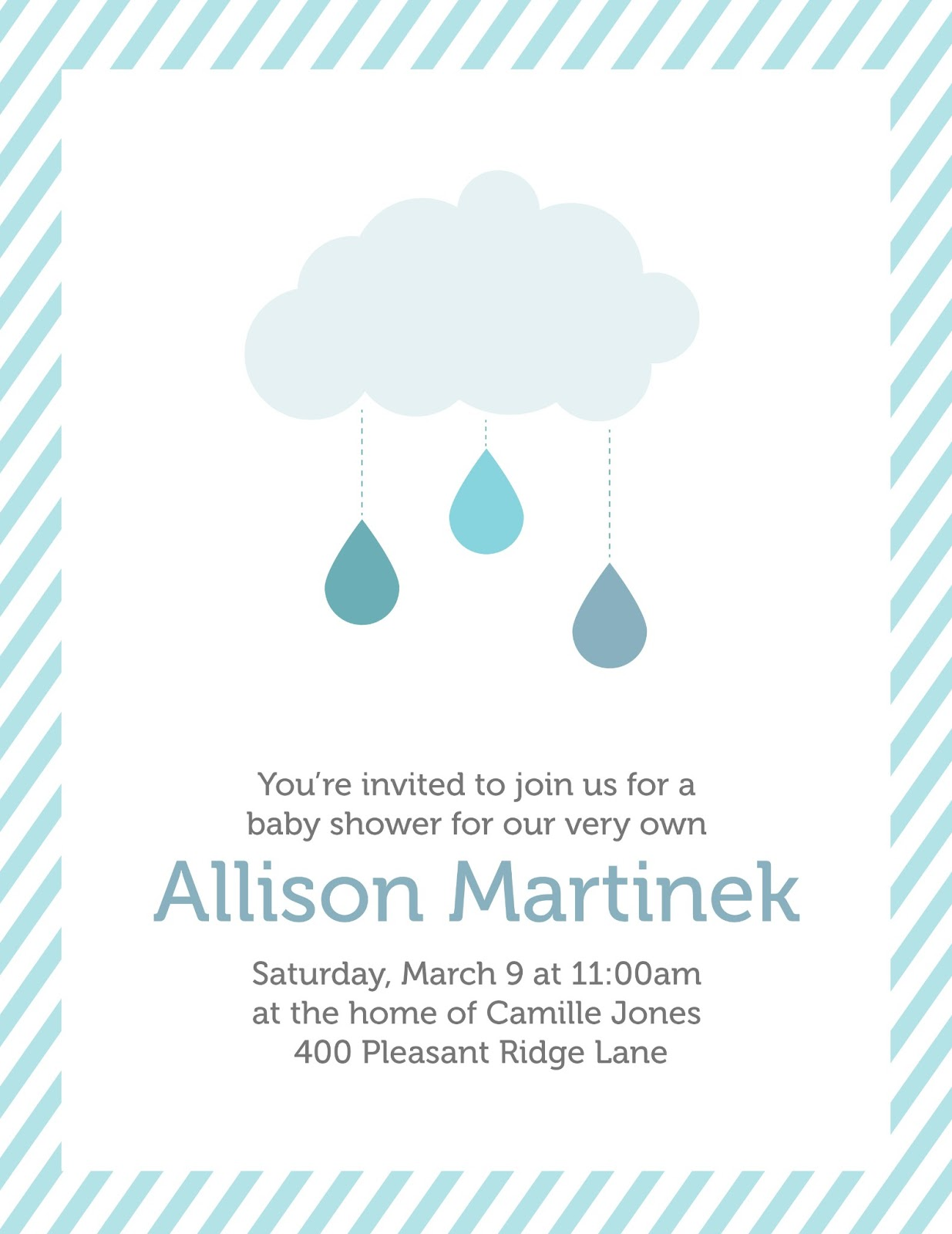 creatively christy baby shower invitation