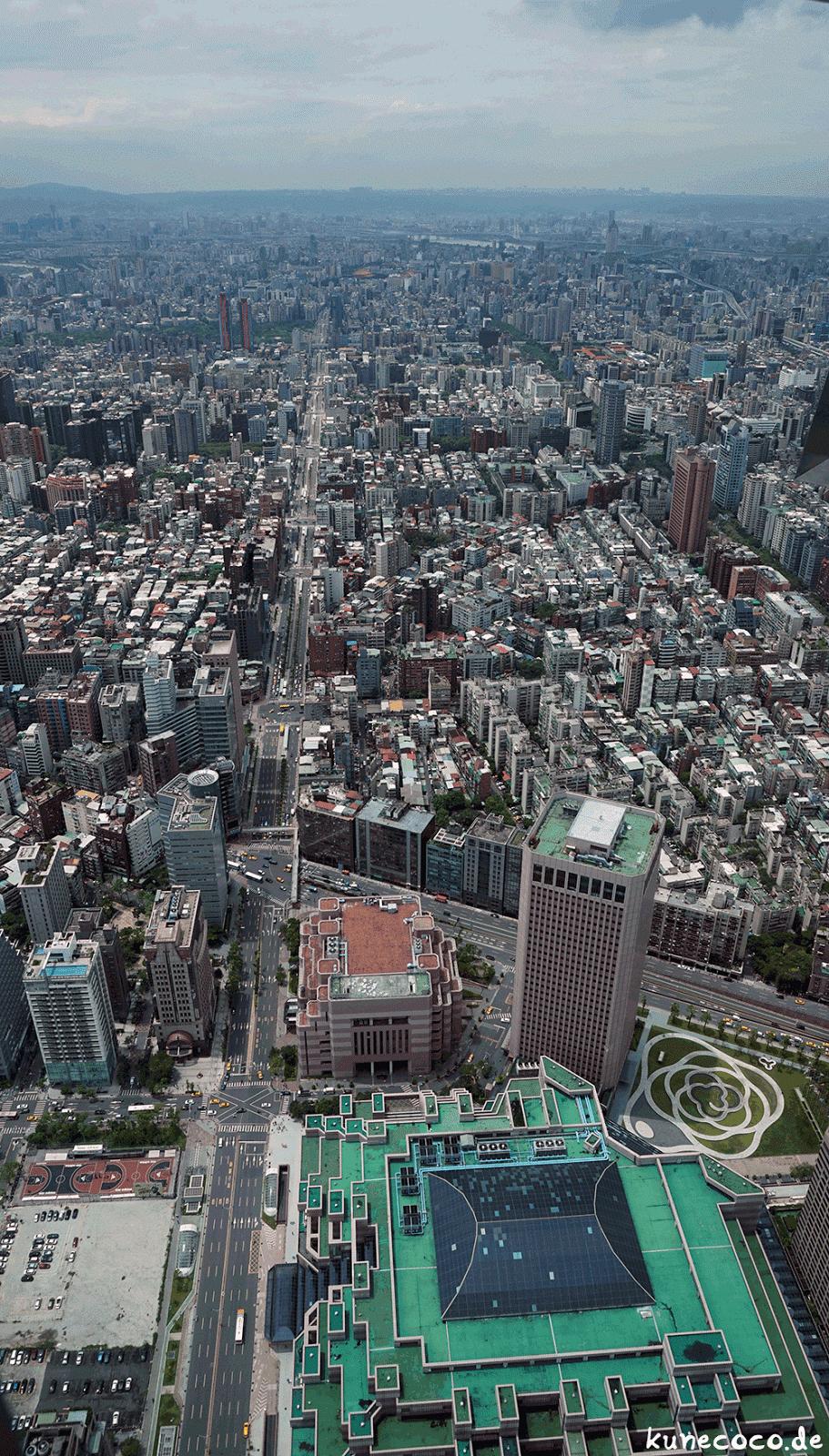 KuneCoco • Aussicht vom Taipei 101 auf Taipei