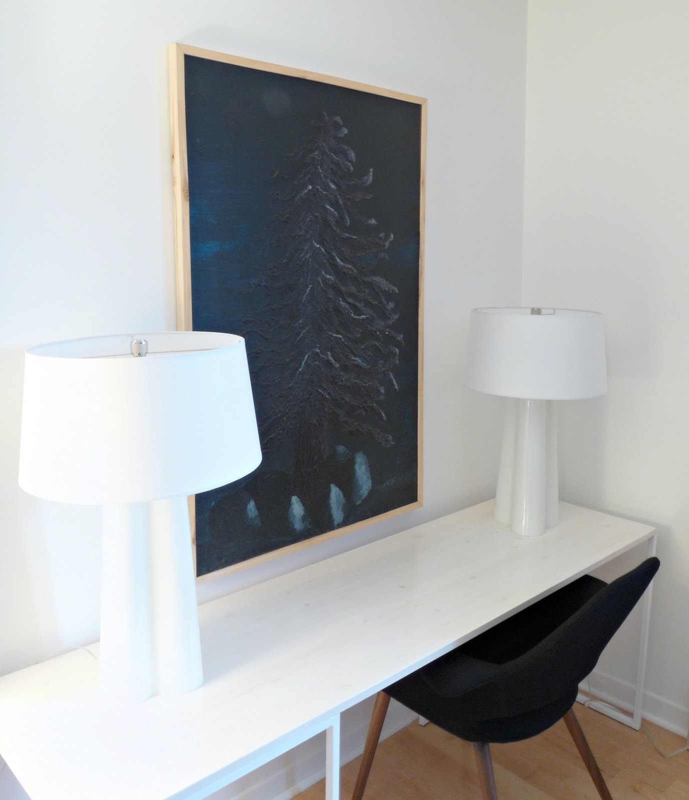 White welded desk DIY