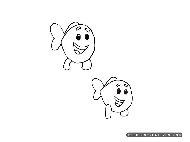 dibujos para pintar PEQUEÑOS PECES ANARANJADOS