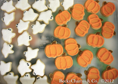 pumpkin, halloween, autumn, fall, thanksgiving, cookies, sweets, treats, favors, party, dessert, ghosts