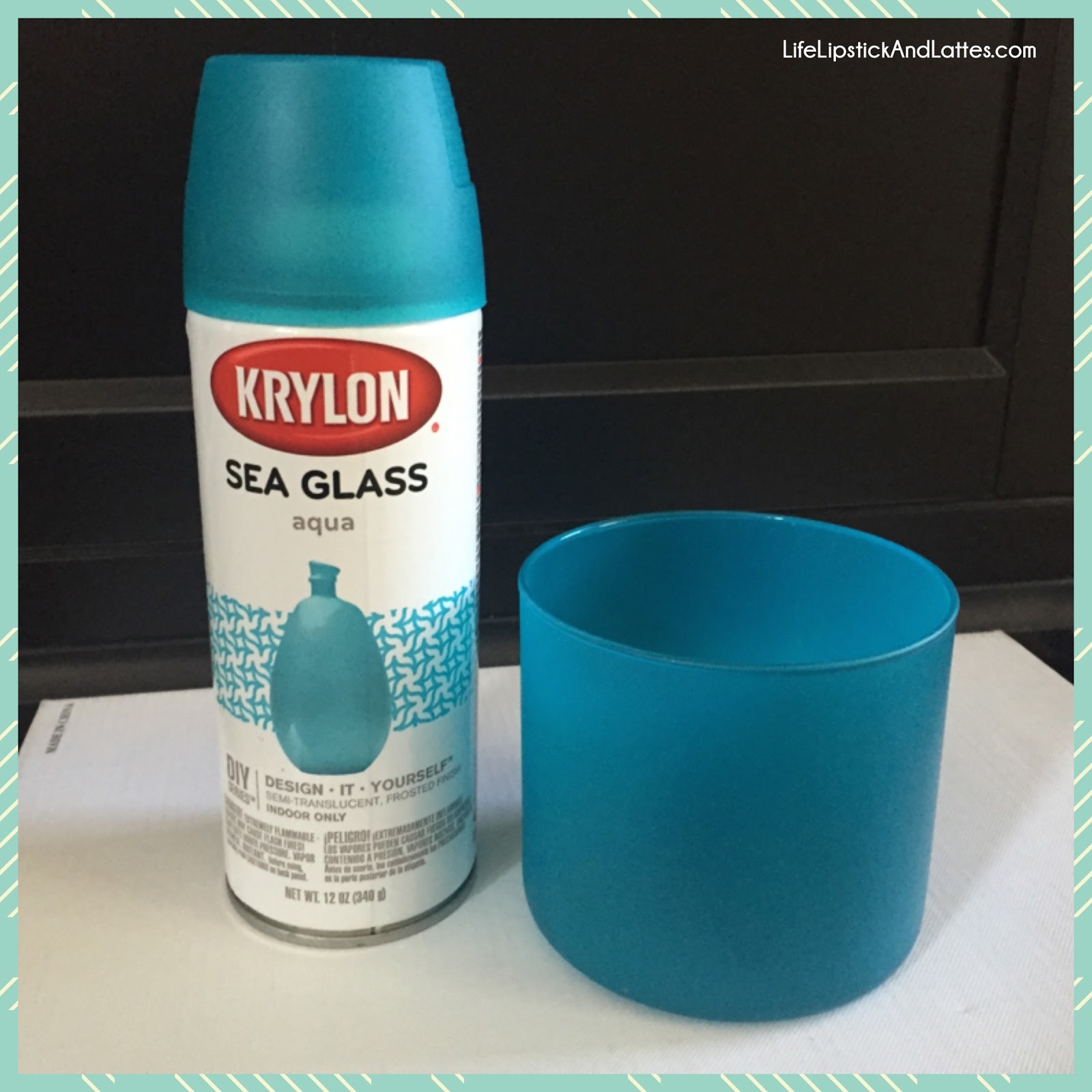 Blue Frosted Glass Spray Paint