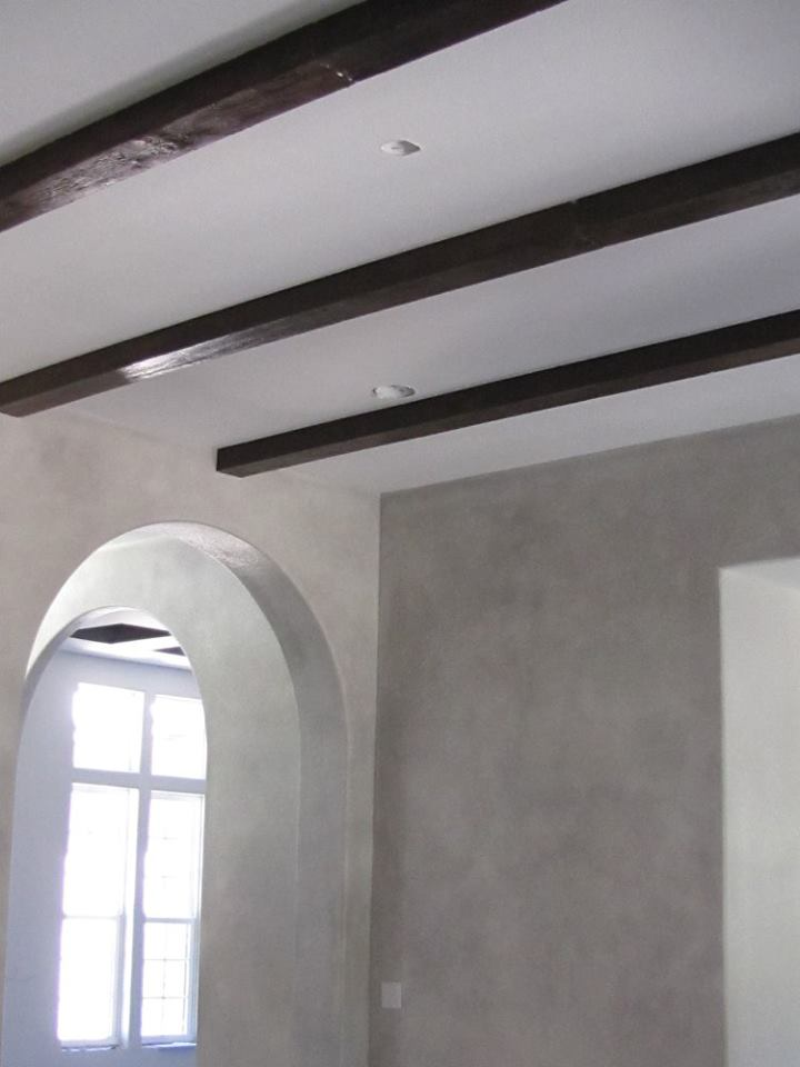 Glazed Walls and Wood Beams