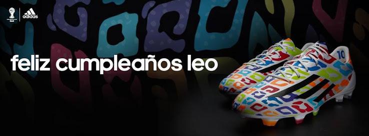 adidas lanza 27 botines edición especial por el cumpleaños de Lio Messi