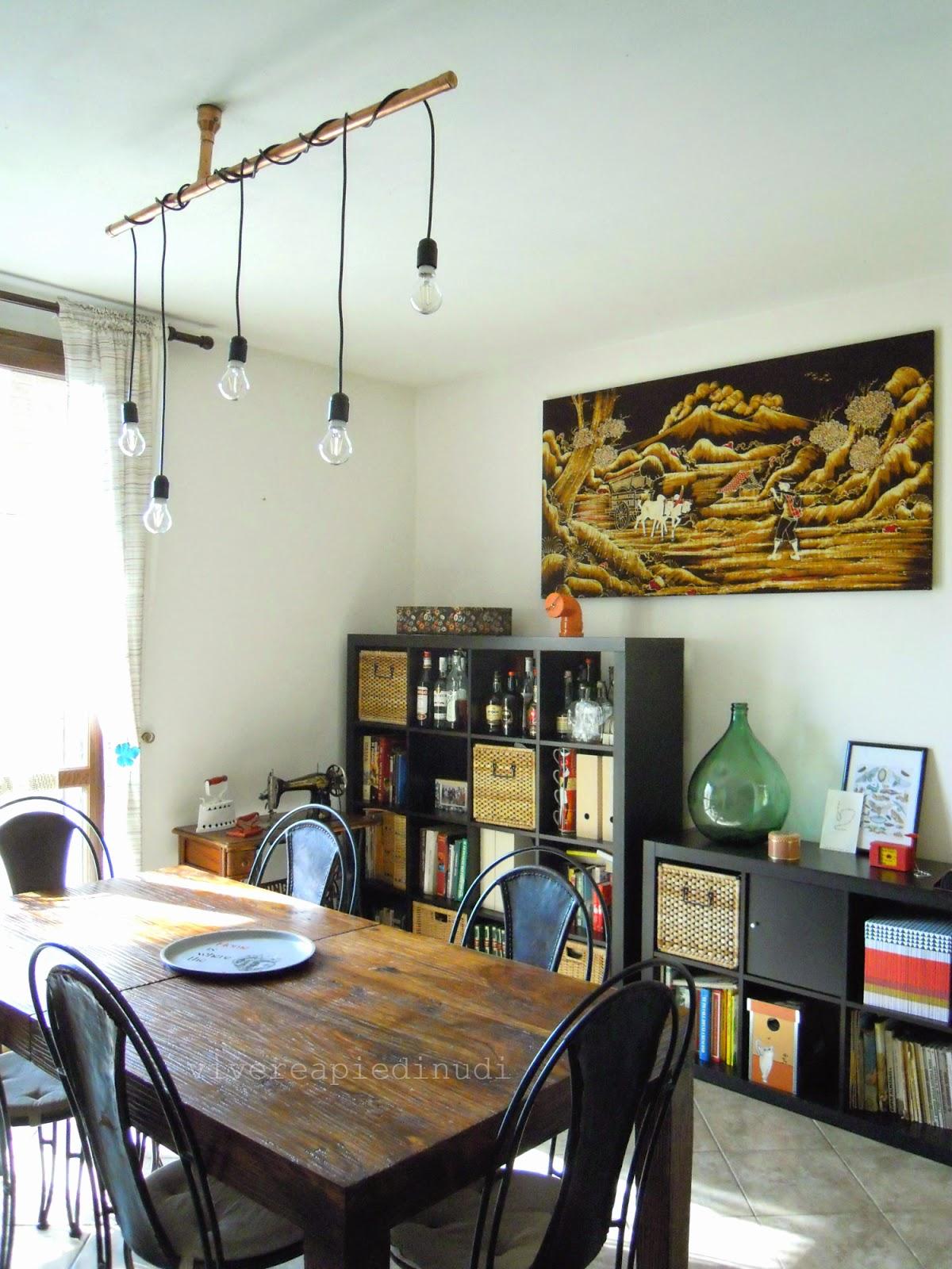 Un Nuovo Lampadario In Rame Per La Sala Da Pranzo Industrial Copper  #9D762E 1200 1600 Illuminare Un Tavolo Da Pranzo