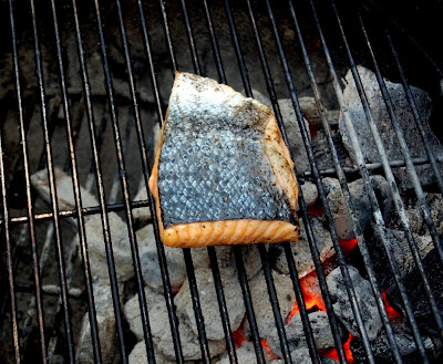 Grilling Salmon - Photo by David Yussen