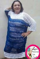 Vestido em crochê de Grampo, Crochê de Grampo,
