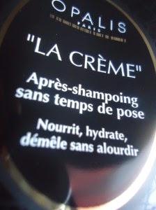 Opalis, la crème après shampooing sans temps de pose