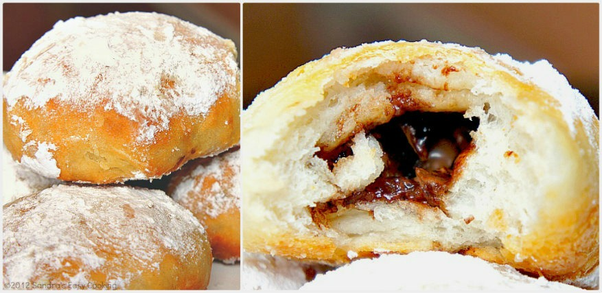 Delicious and Easy recipe for Sweet Rolls filled with Chocolate