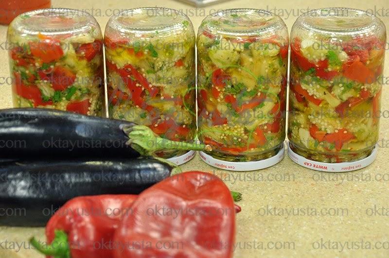 Patlıcanlı Biberli Ekşileme Oktay Usta