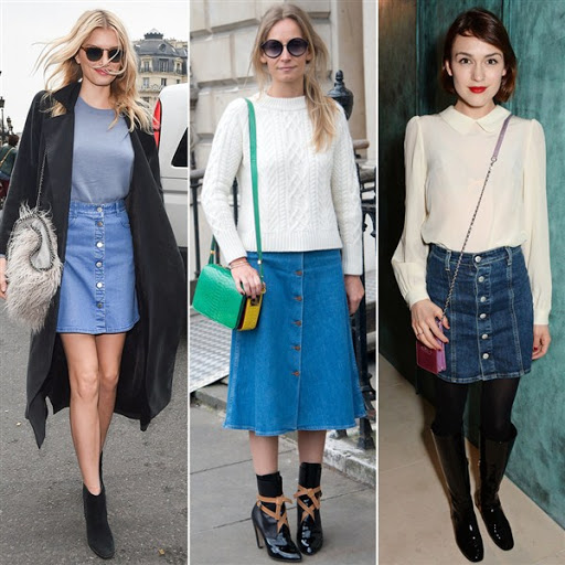 Best Denim Skirt Outfit Ideas for 2017/2018
