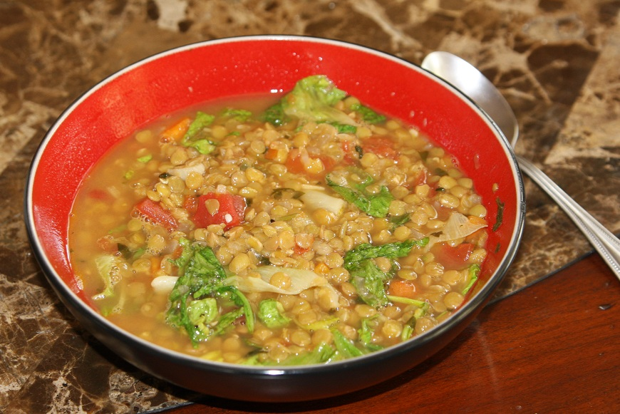 Klayton's Kitchen: Lentil and Escarole Soup