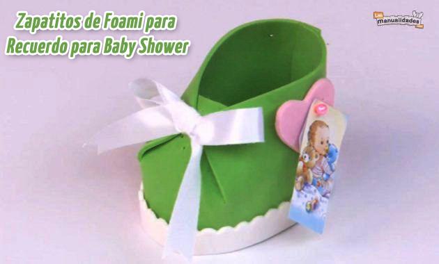 Zapatitos de Foami para Recuerdo para Baby Shower | Recuerdos para ...