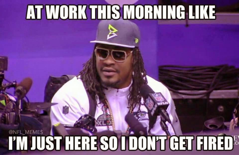 at work this morning like i'm just here so I don't get fired