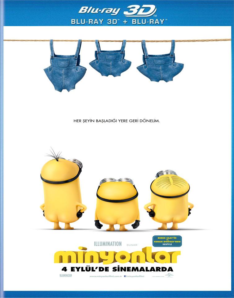 Minions - Minyonlar 2015 3D (1080p Bluray H-SBS) DUAL TR-EN - 3D Film indir