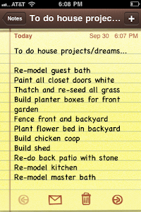 To Do House Projects/Dreams....