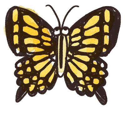 アゲハチョウのイラスト(虫)