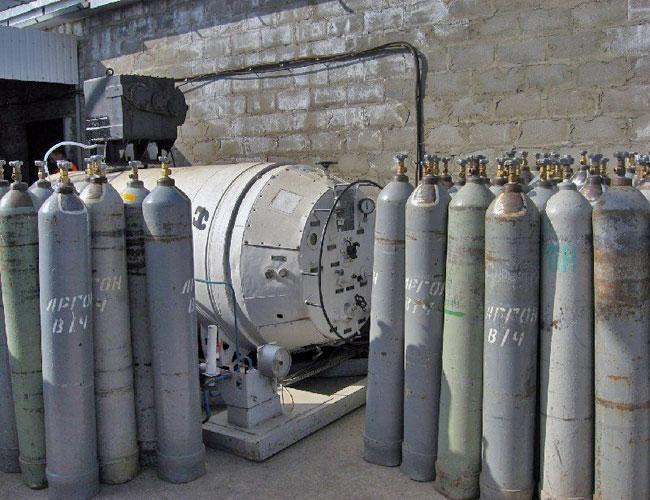 Фото газовых баллонов под аргон