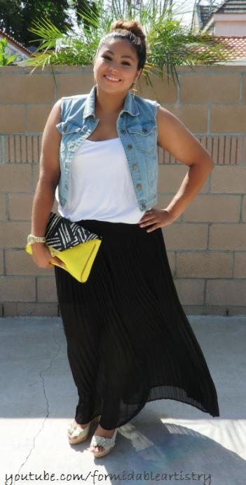 how to wear a white maxi skirt