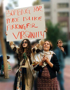 Bombing for peace is like fucking for virginity