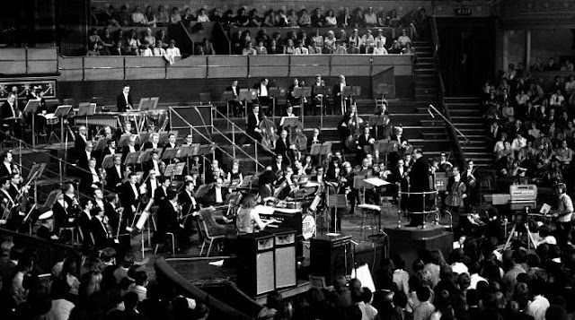 Grabación del concierto Concerto For Group And Orchestra en el Royal Albert Hall