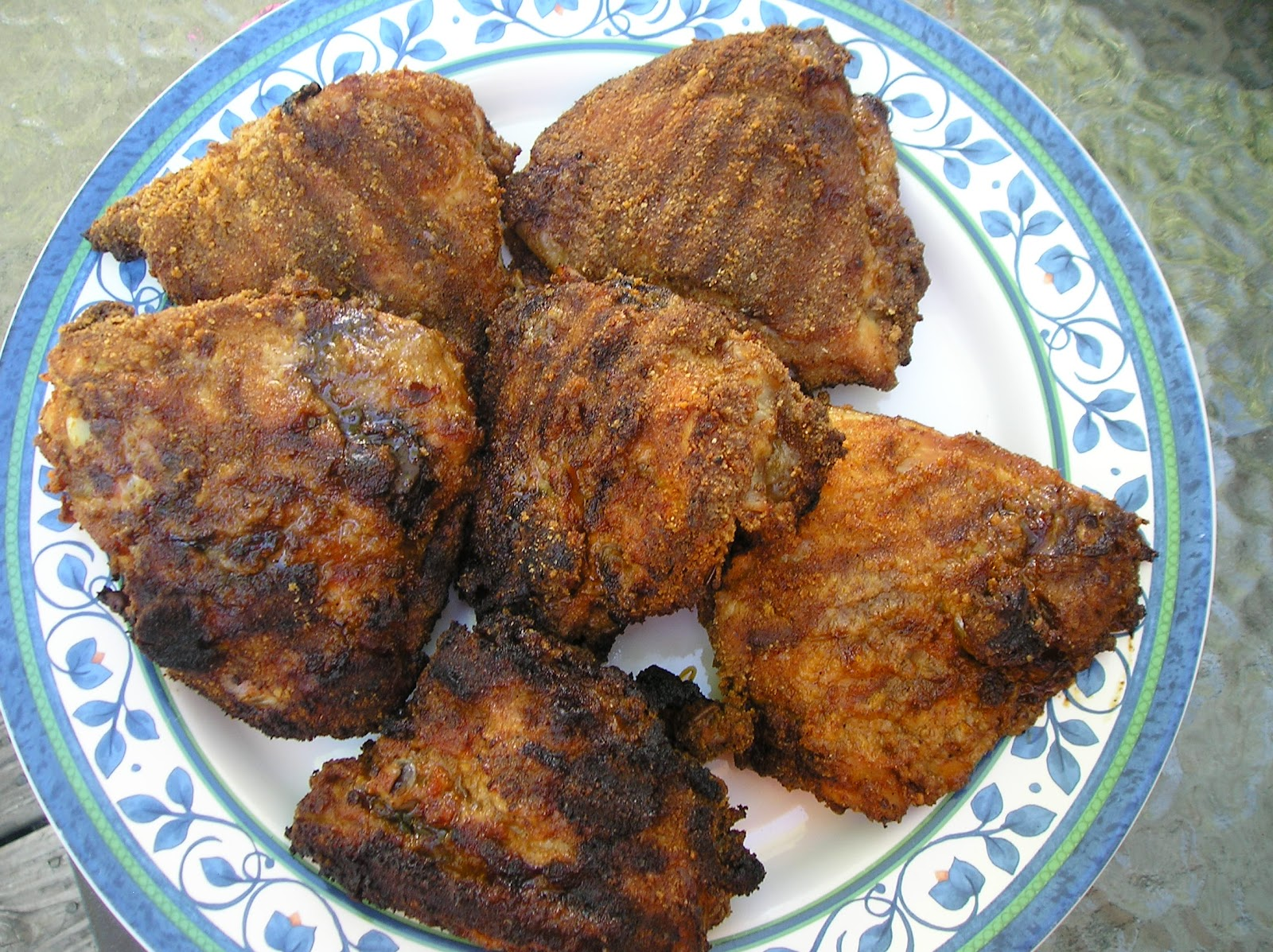 ... crispy breaded chicken thighs cooked on the grill breaded chicken