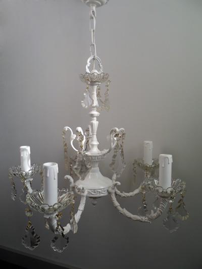 La cacharreria ara a de bronce pintada en blanco ref 31 - Pintar lamparas de techo ...