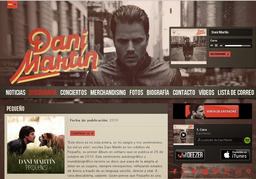página oficial de Dani Martín