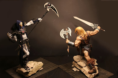 He-Man vs Esqueleto - escultura