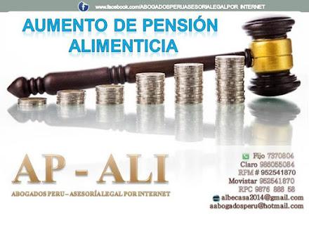 DEMANDA DE AUMENTO DE PENSIÓN ALIMENTICIA