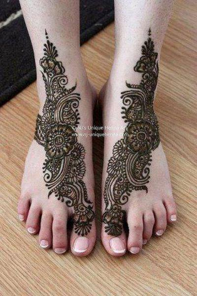 Bridal Foot Mehndi Designs Unforgettable Collection : Eid mehandi design for feet