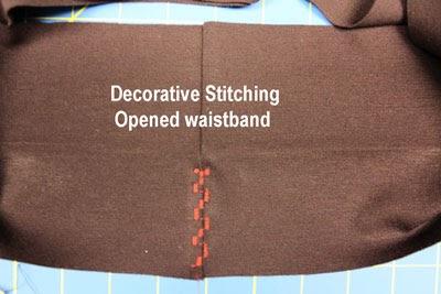 Decorative Stitching Step 3 View