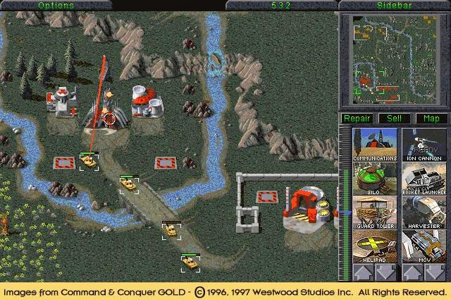 Game Command and Conquer Gold