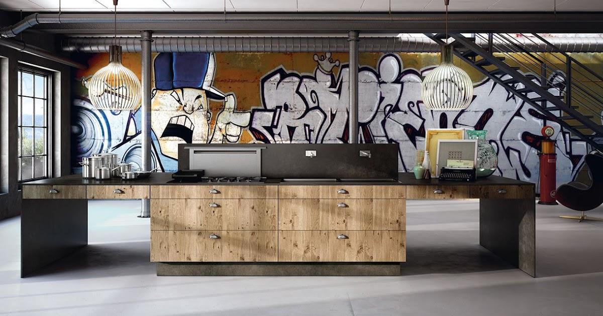 cuisine design en bois contemporain. Black Bedroom Furniture Sets. Home Design Ideas