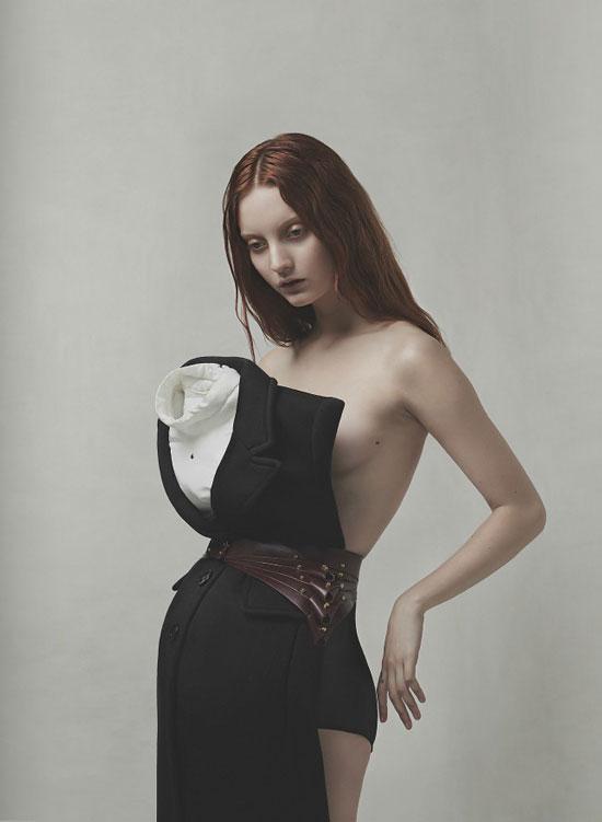 Codie Young wearing Sonia by Sonia Rykiel | Sleepwalker editorial | Nasty #4