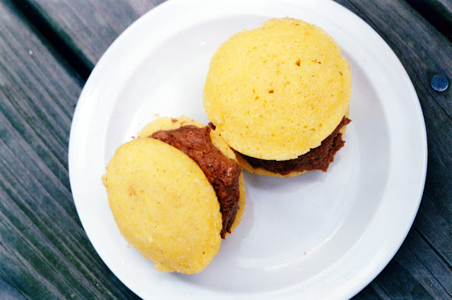 Cornmeal Whoopie Pies with Chocolate-Orange Buttercream