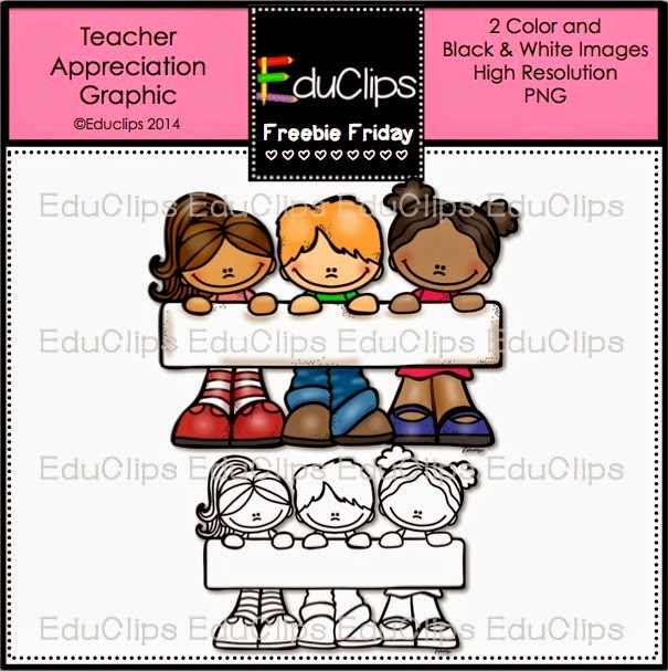 Free Teacher Appreciation Graphic by Educlips