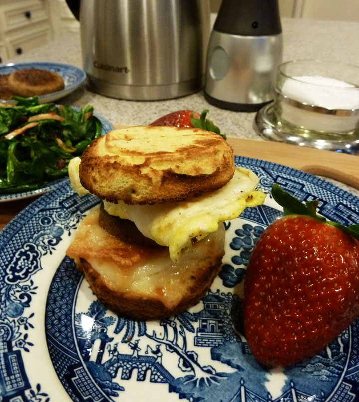 Fluffy Chix Cook: Low Carb Sausage, Egg, Cheese Biscuit Sandwich