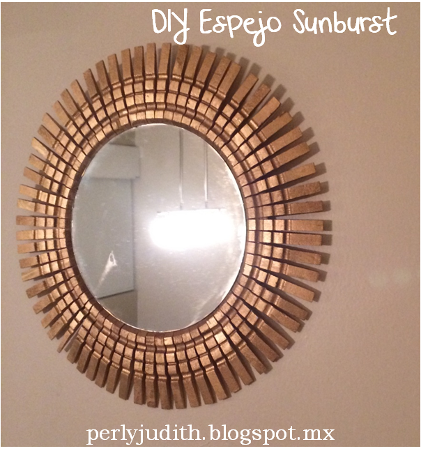 Perly judith diy espejo sunburst for Espejos de madera decorados