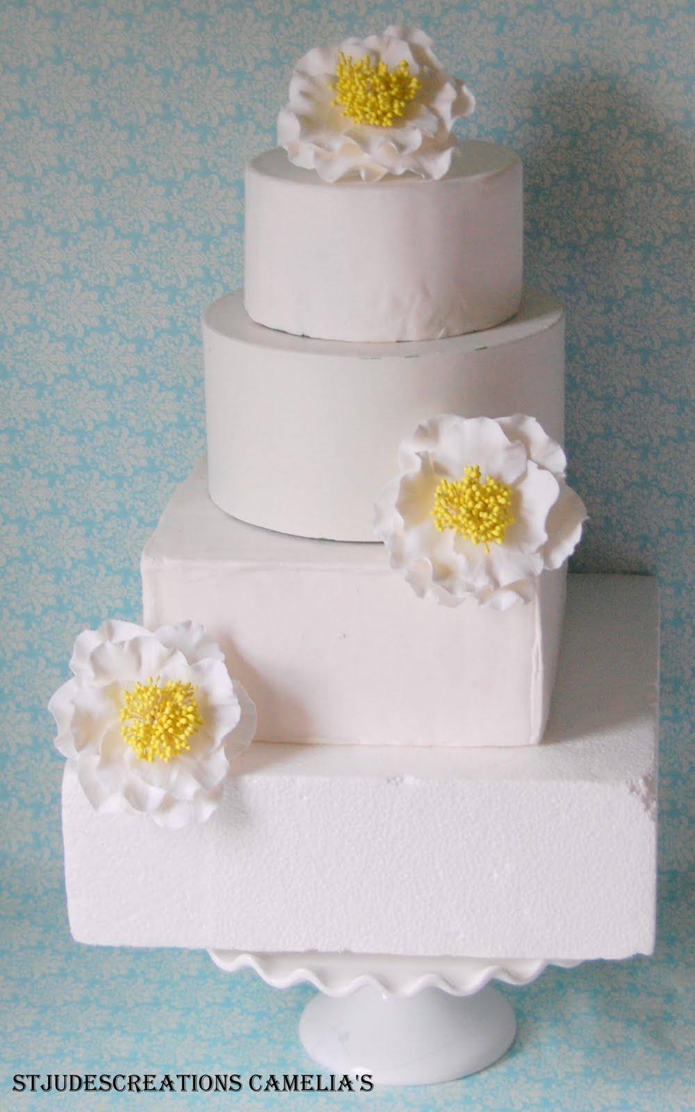 camelia clay cake flower gumpaste or sugar flowers alternative ...