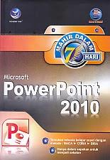 toko buku rahma: buku MAHIR DALAM 7 HARI MICROSOFT POWERPOINT 2010, pengarang madcoms, penerbit andi