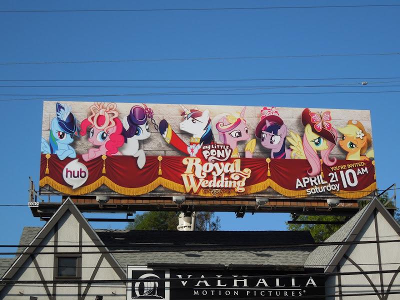 My Little Pony Royal Wedding billboard