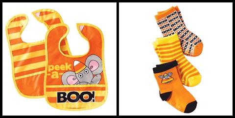 Halloween bibs socks