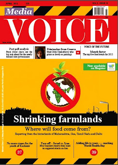 On the cover of Media Voice - April 2012