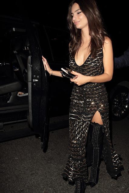 Actress, Fashion Model @ Emily Ratajkowski - Republic Records VMA after party, West Hollywood