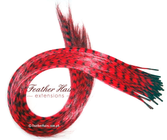 Red Feather Hair Extension