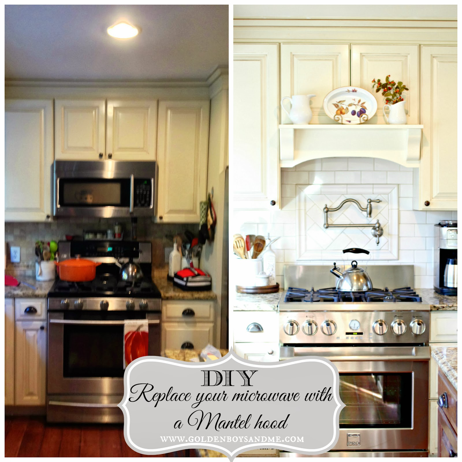 Kitchen Cabinets Over Stove: Golden Boys And Me: Our {Latest} Kitchen Makeover Reveal