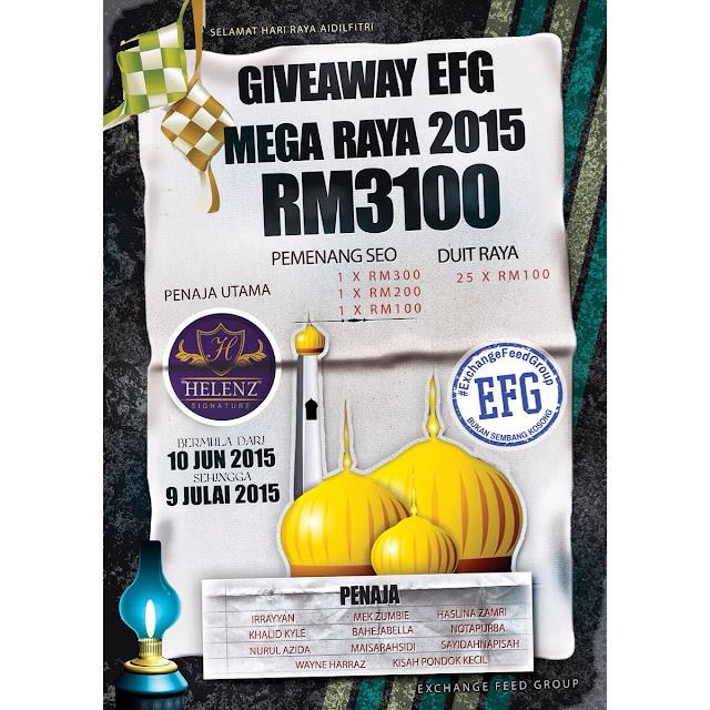giveaway senang-senang dapar rm100