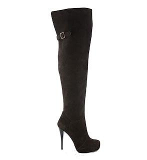 cizme negre peste genunchi cu catarama si toc stiletto