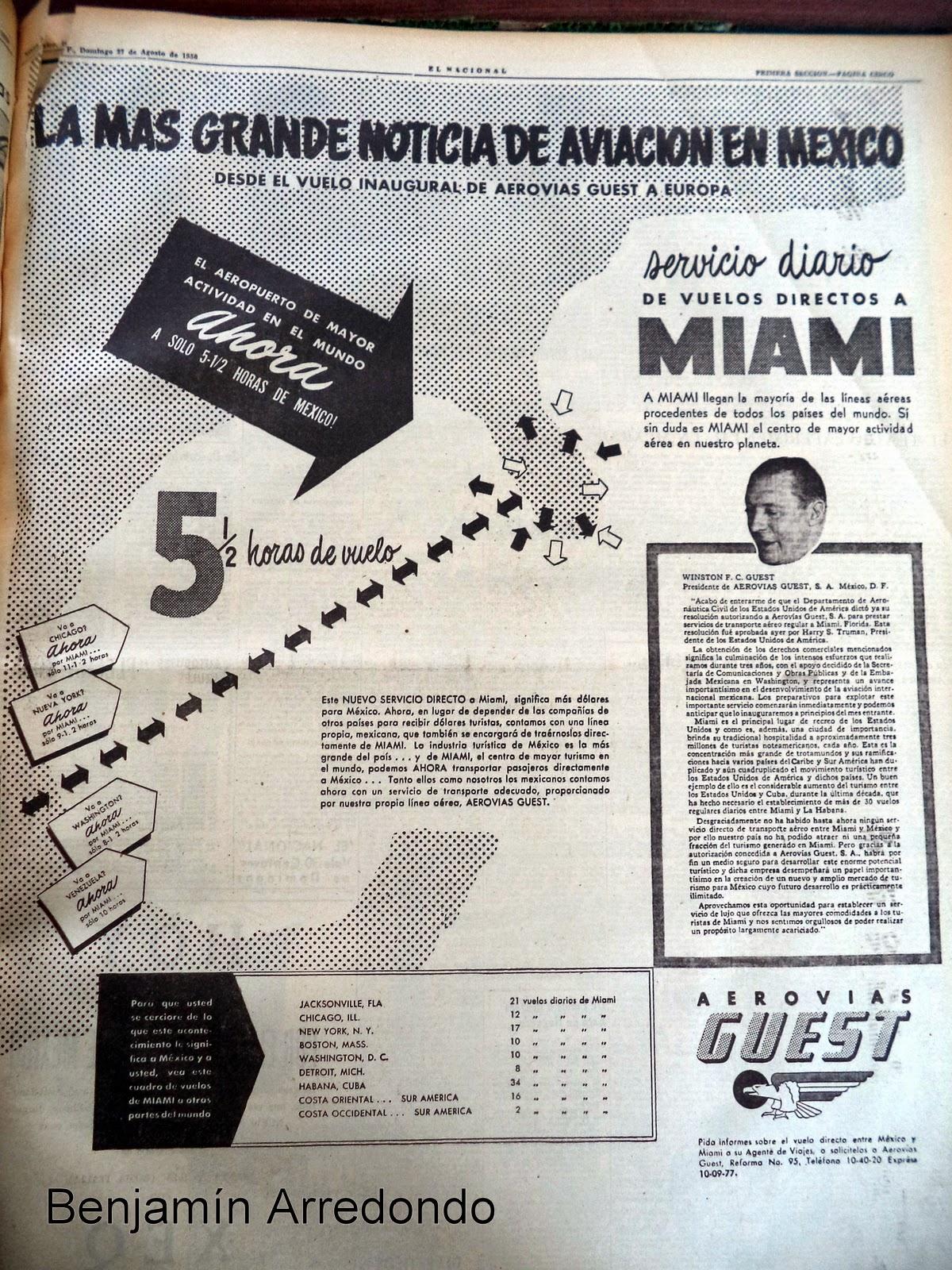 El bable la publicidad a rea en los a os cincuenta en m xico - Los anos cincuenta ...